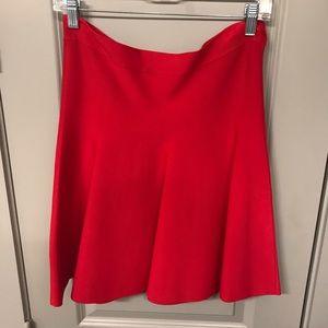 BCBGMAXAZRIA Red Bandage Circle Skirt